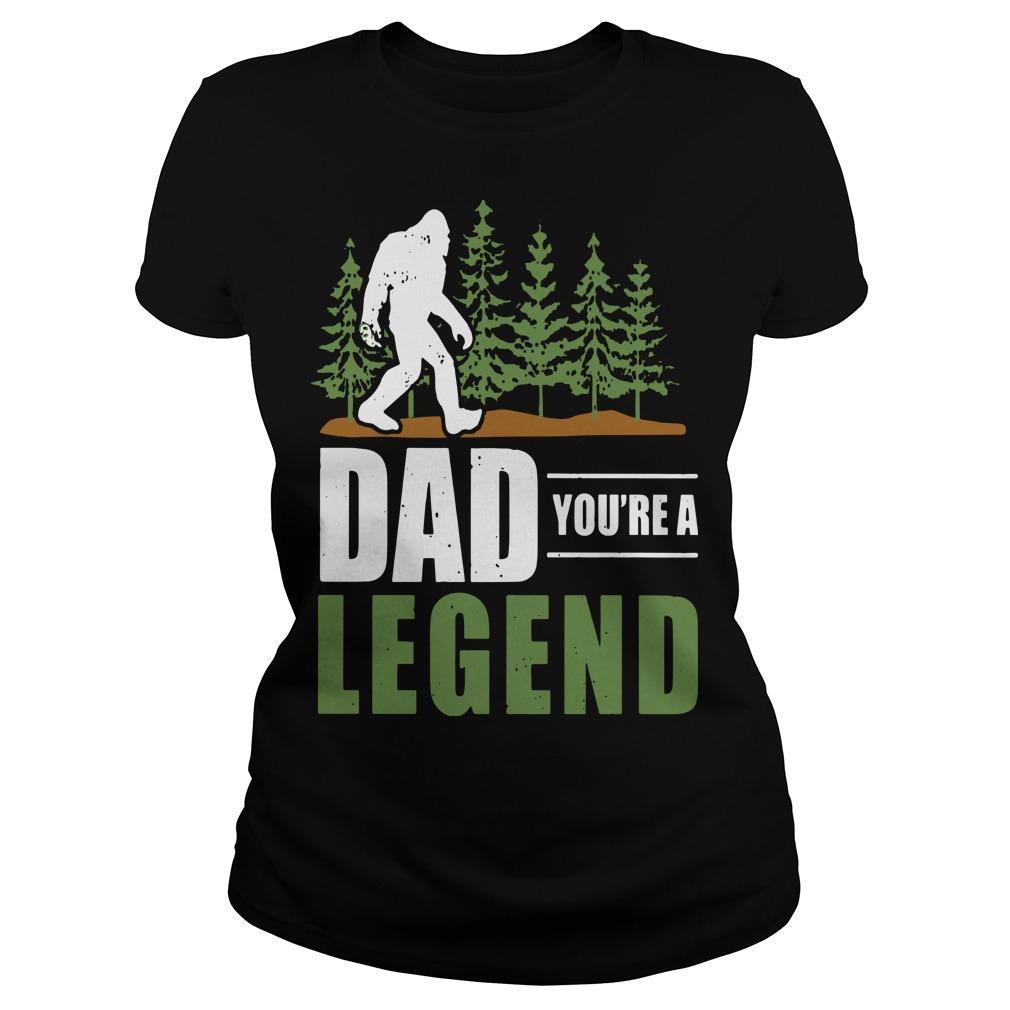 Big Foot Dad You're A Legend Longsleeve