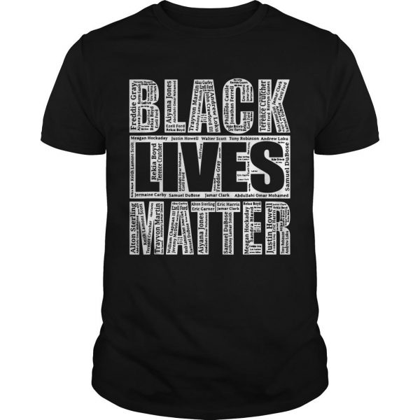 Black Lives Matter Names Of Victims Shirt