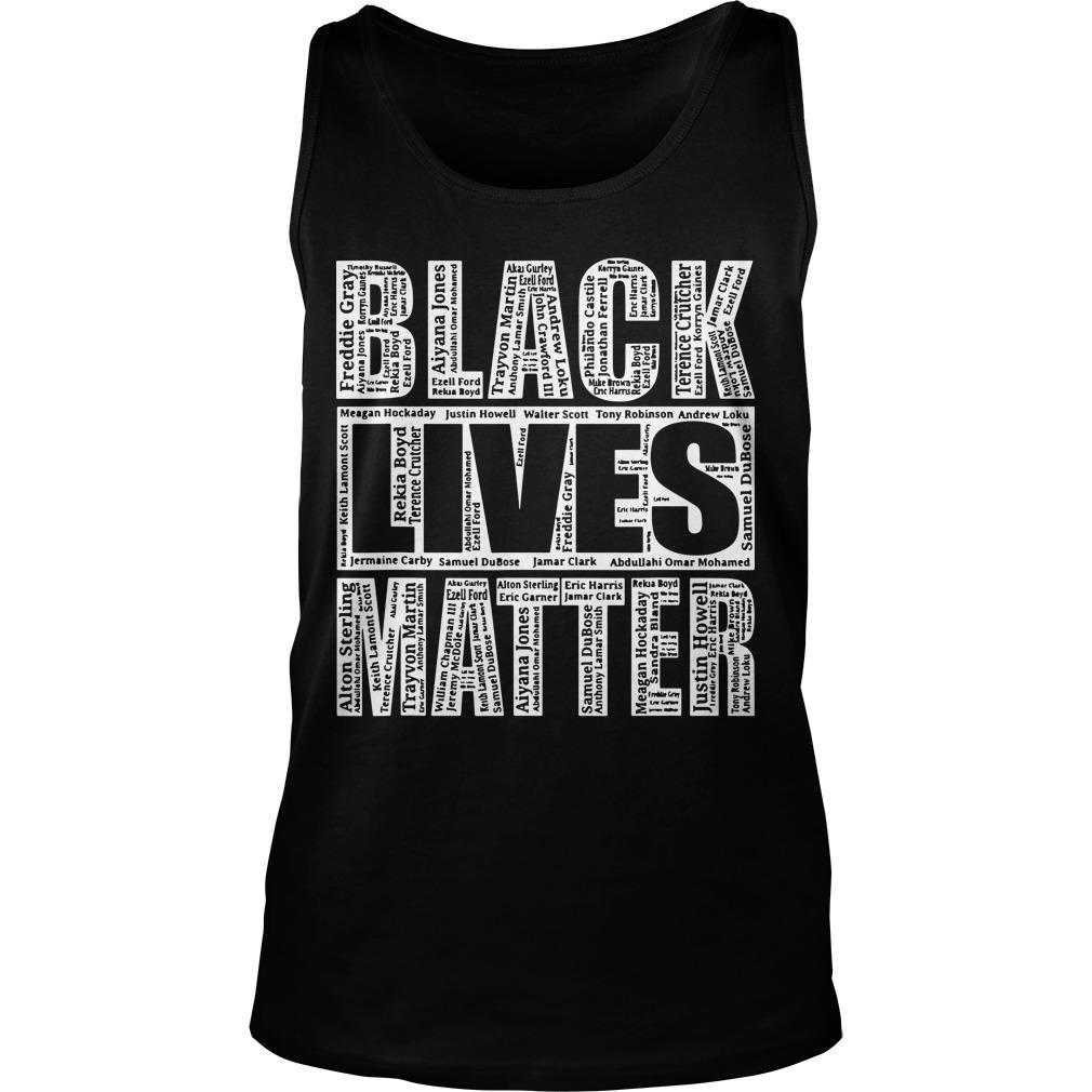 Black Lives Matter Names Of Victims Tank Top