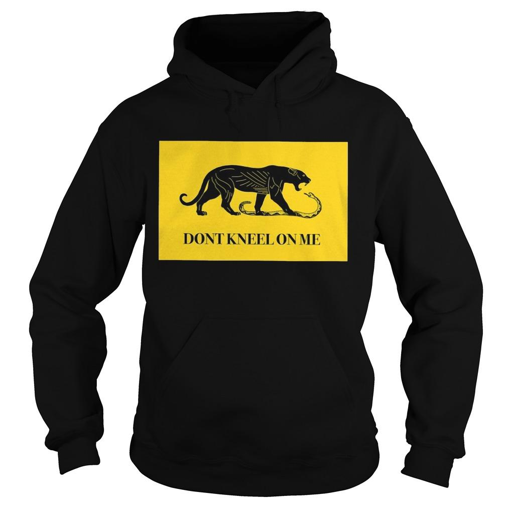 Black Tiger Don't Kneel On Me Hoodie