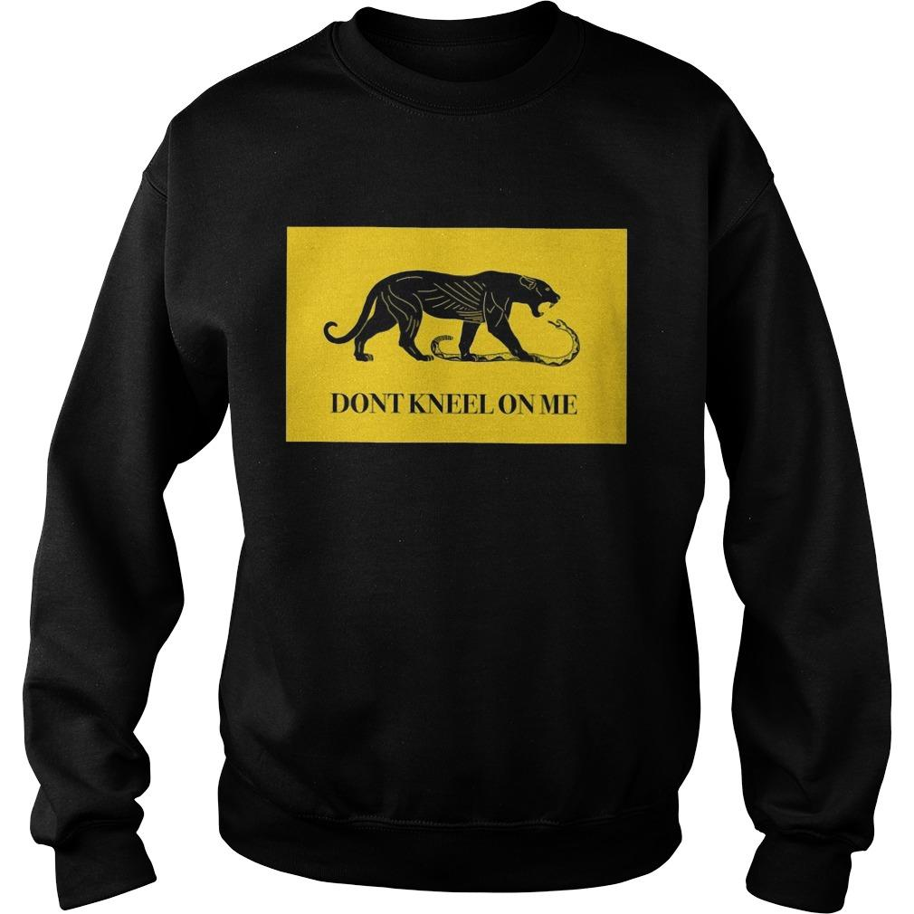 Black Tiger Don't Kneel On Me Sweater