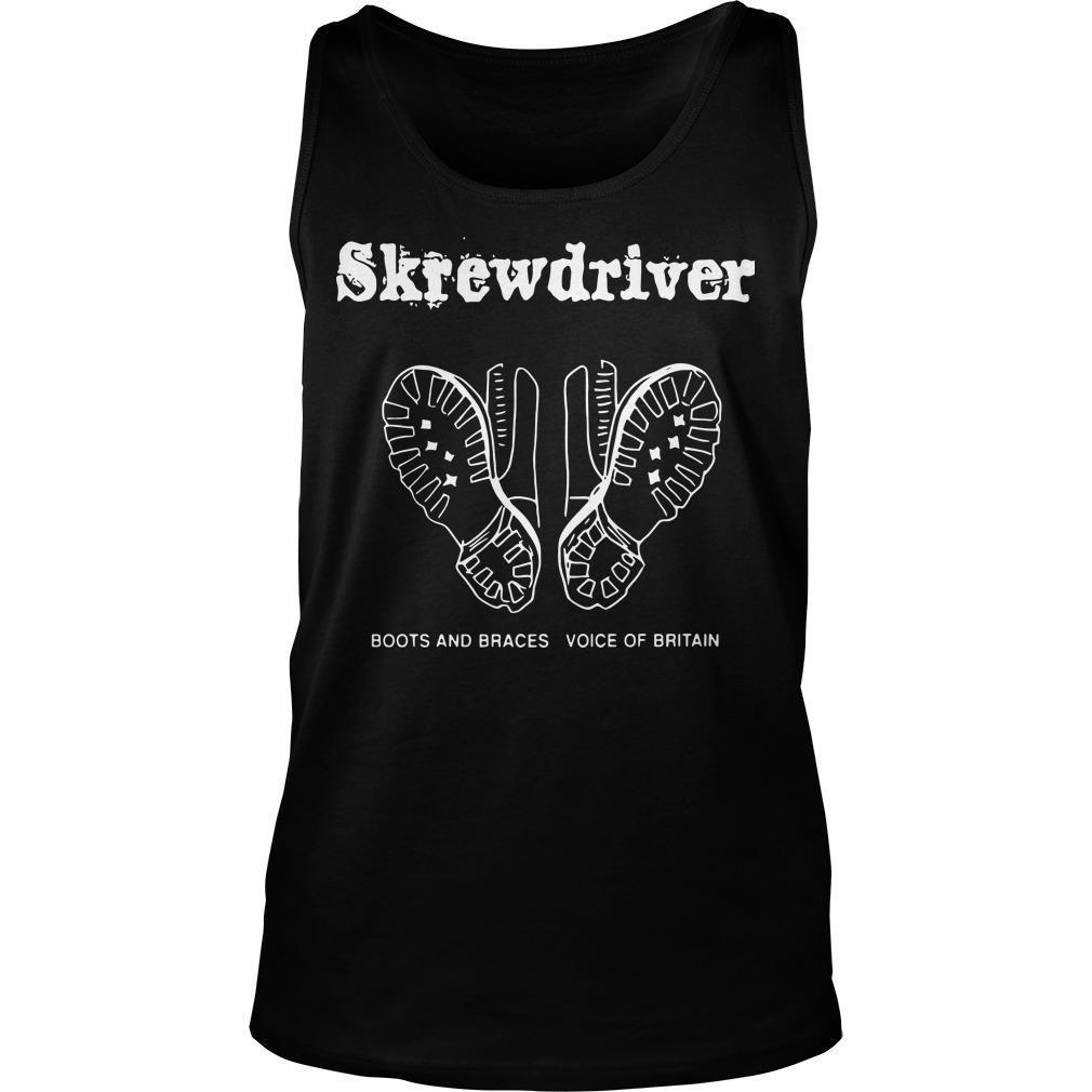 Boots And Braces Voice Of Britain Skrewdriver Tank Top