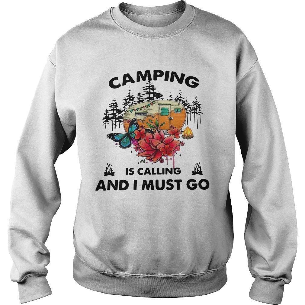 Camping Is Calling And I Must Go Sweater