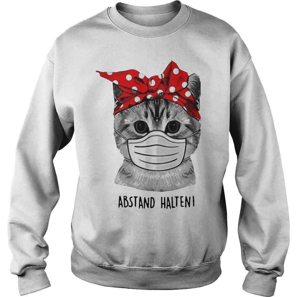 Cat Face Mask Abstand Halten Sweater
