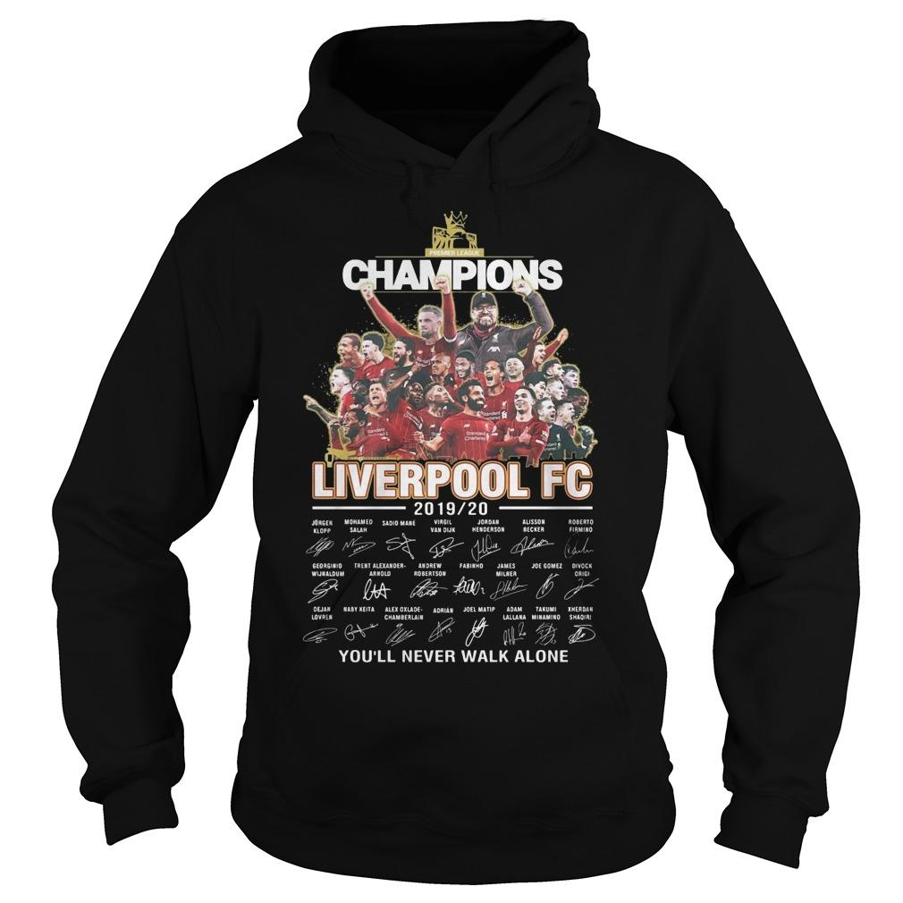 Champions Liverpool Fc 2019 2020 You'll Never Walk Alone Hoodie