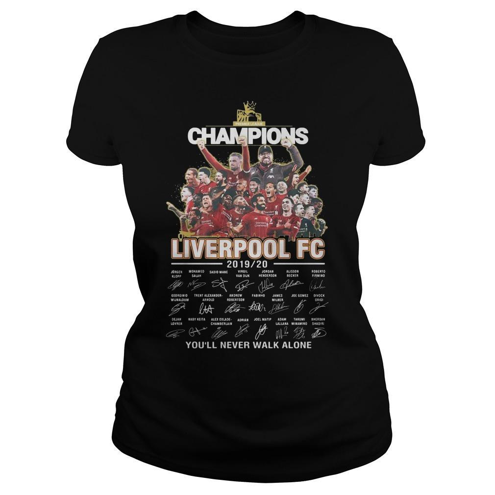 Champions Liverpool Fc 2019 2020 You'll Never Walk Alone Longsleeve