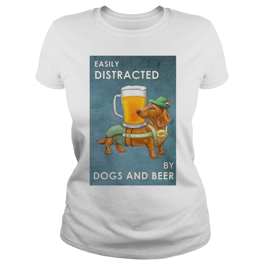 Dachshund Easily Distracted By Dogs And Beer Longsleeve