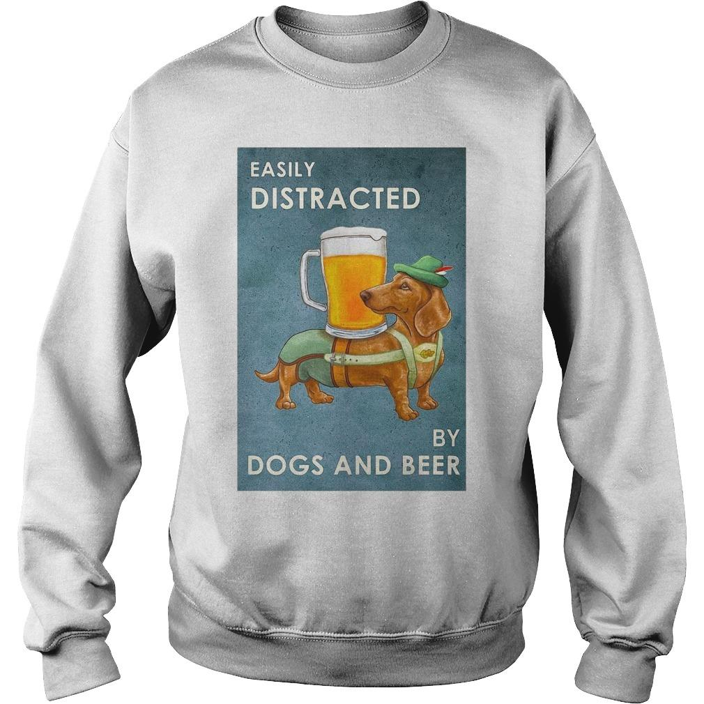 Dachshund Easily Distracted By Dogs And Beer Sweater
