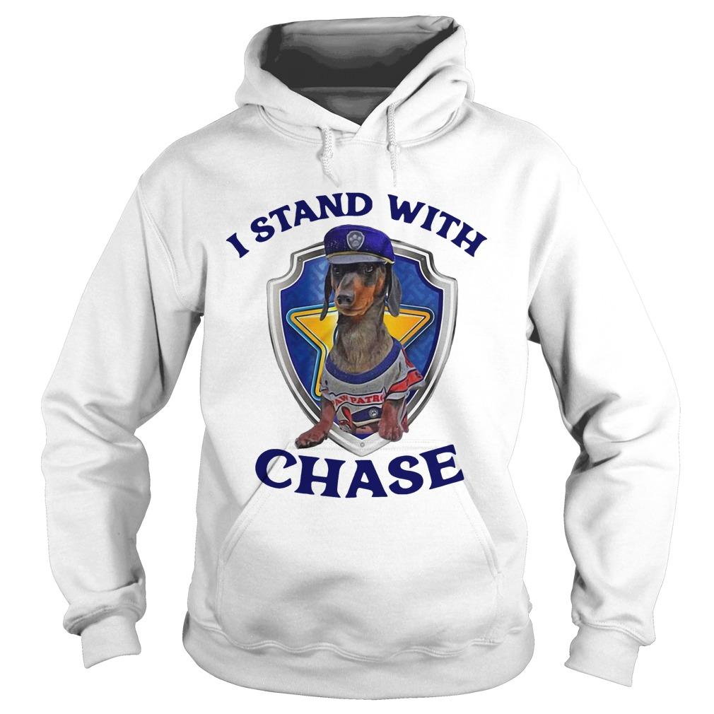 Dachshund I Stand With Chase Hoodie