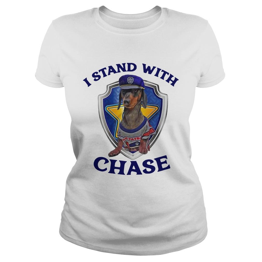 Dachshund I Stand With Chase Longsleeve