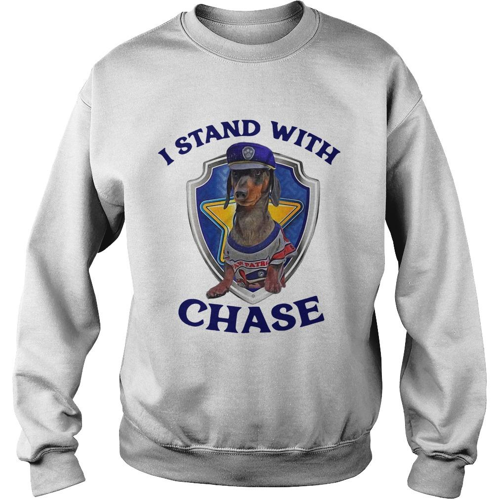 Dachshund I Stand With Chase Sweater