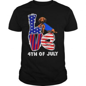 Dachshund Tattoo I Love Usa 4th Of July Shirt
