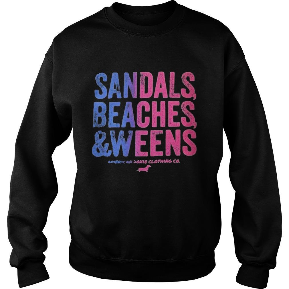 Dachshunds Sandals Beaches And Weens American Doxie Clothing Co Sweater