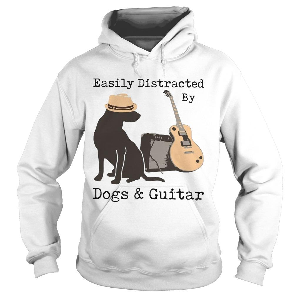 Easily Distracted By Dogs And Guitar Hoodie