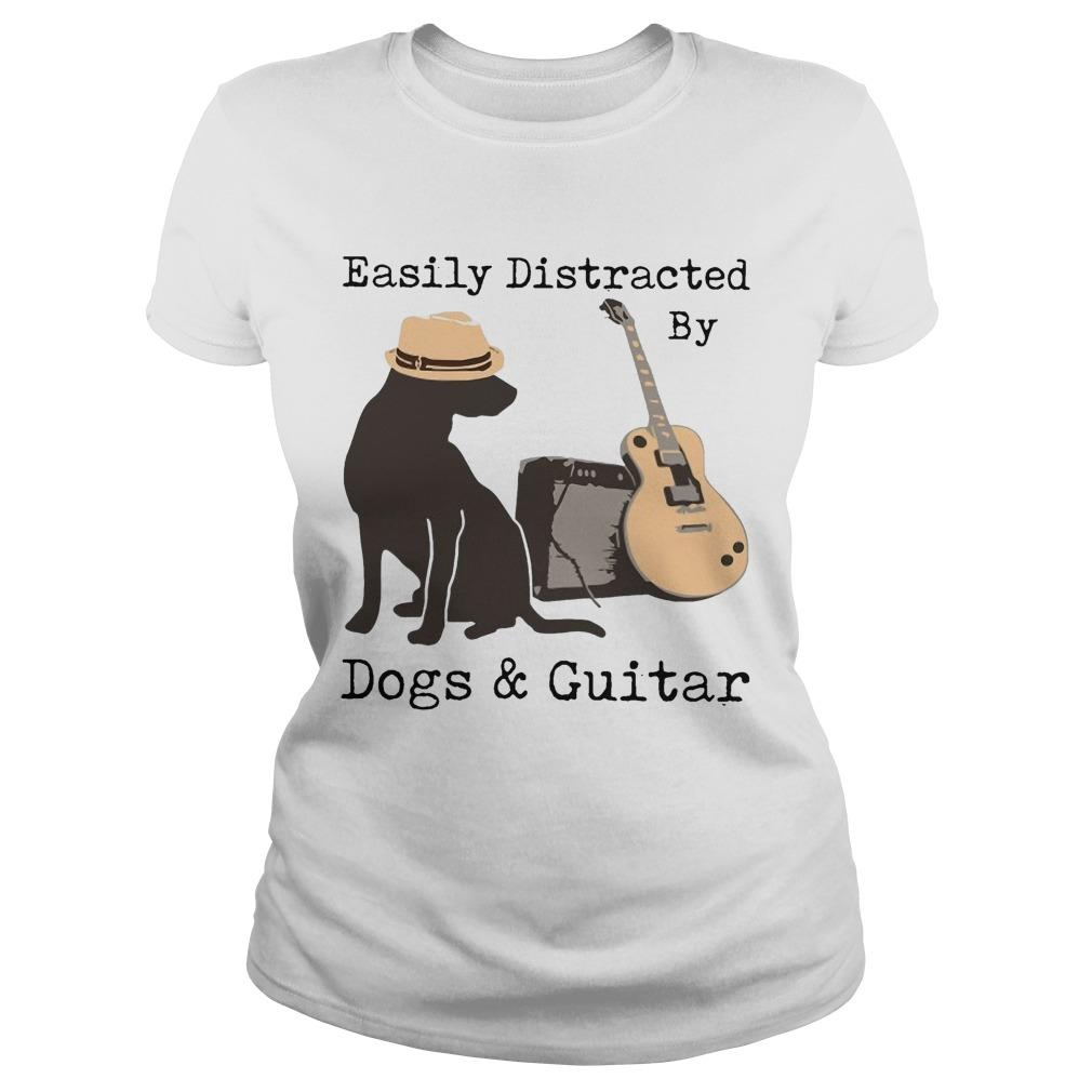 Easily Distracted By Dogs And Guitar Longsleeve