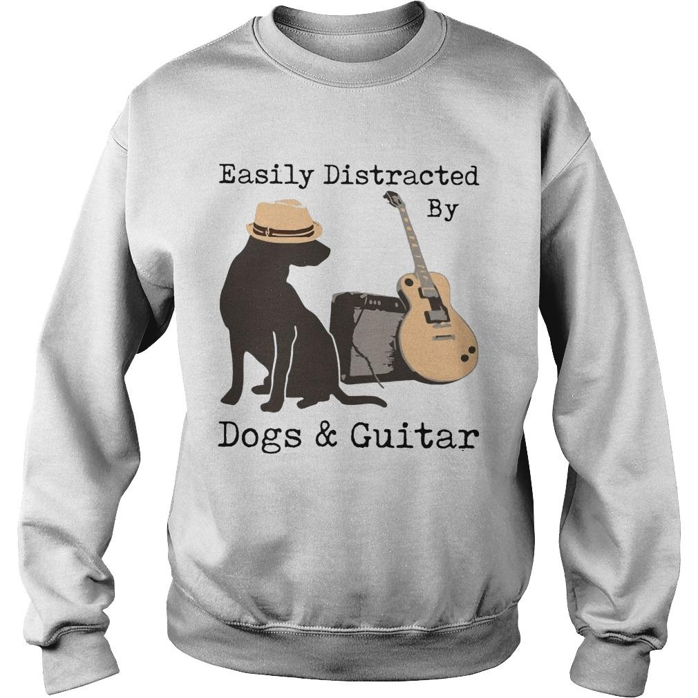 Easily Distracted By Dogs And Guitar Sweater