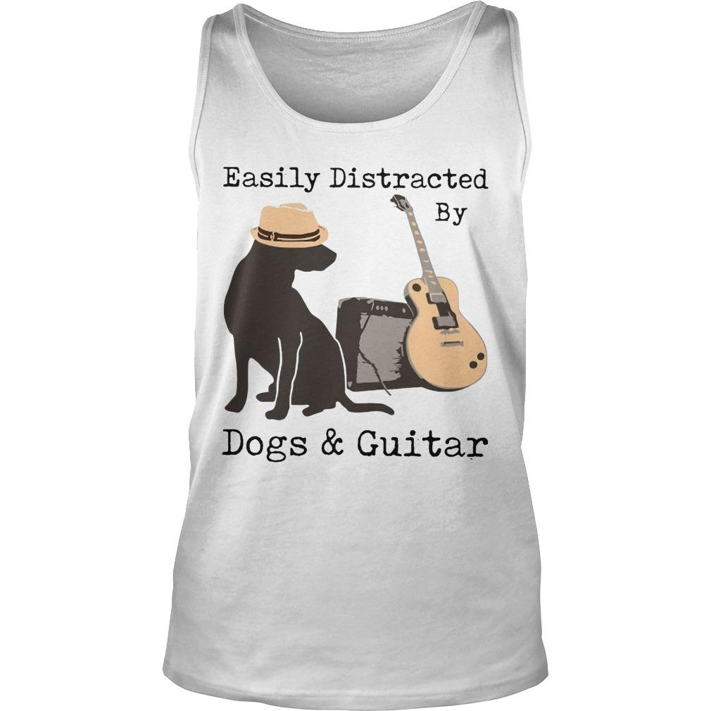 Easily Distracted By Dogs And Guitar Tank Top