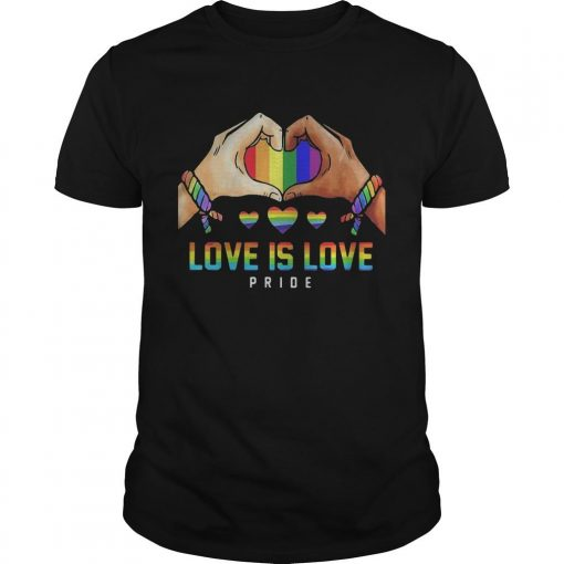 Hand Heart Lgbt Love Is Love Pride Shirt