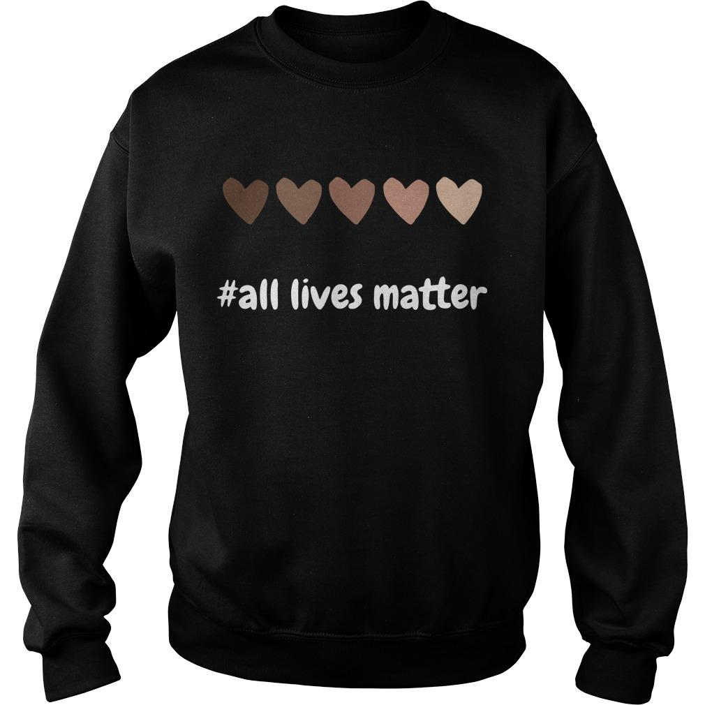 Hearts All Lives Matter Sweater