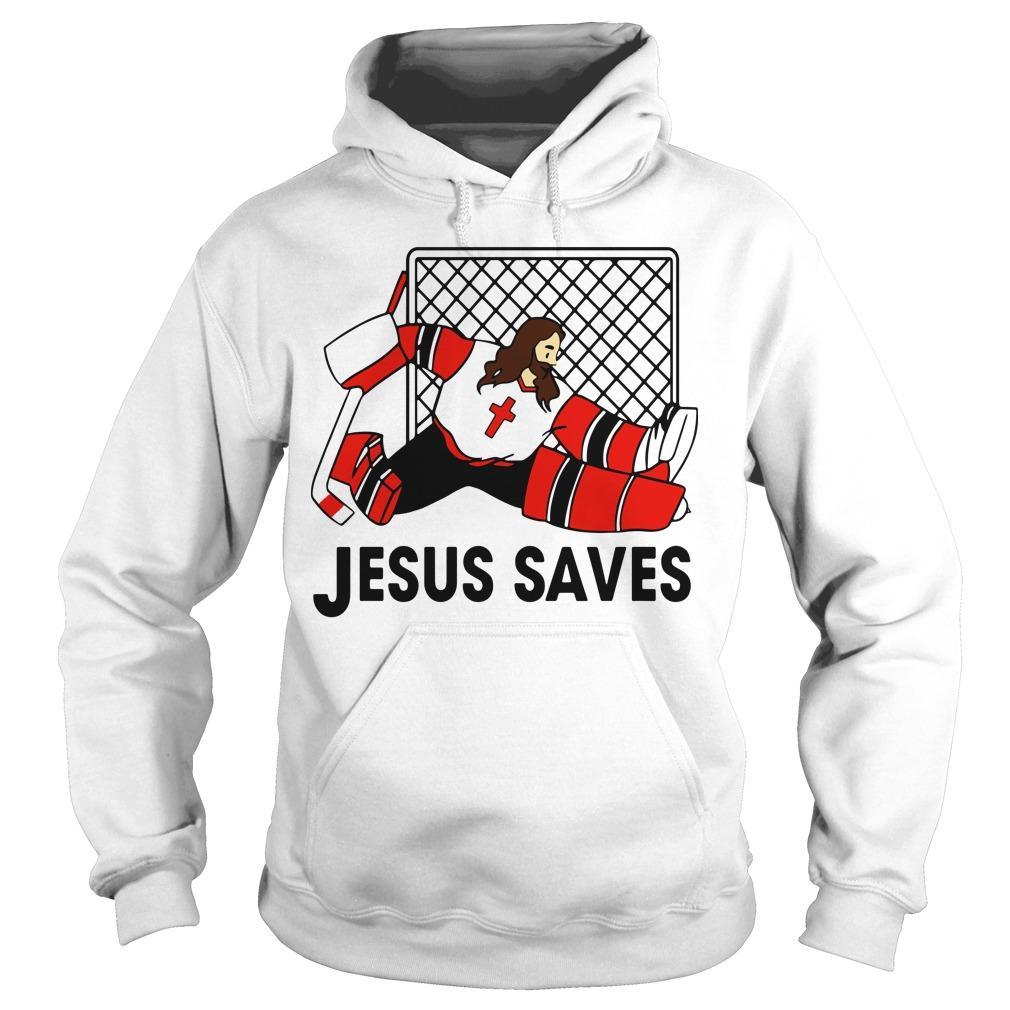 Hockey Jesus Saves Hoodie