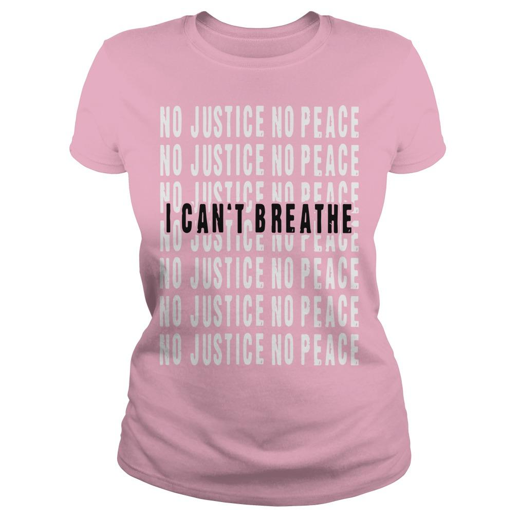 I Can't Breathe No Justice No Peace Longsleeve