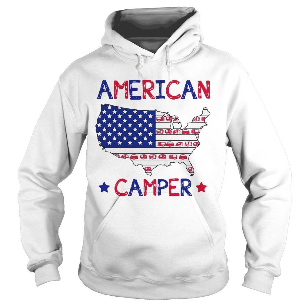Independence Day 4th Of July American Camper Hoodie