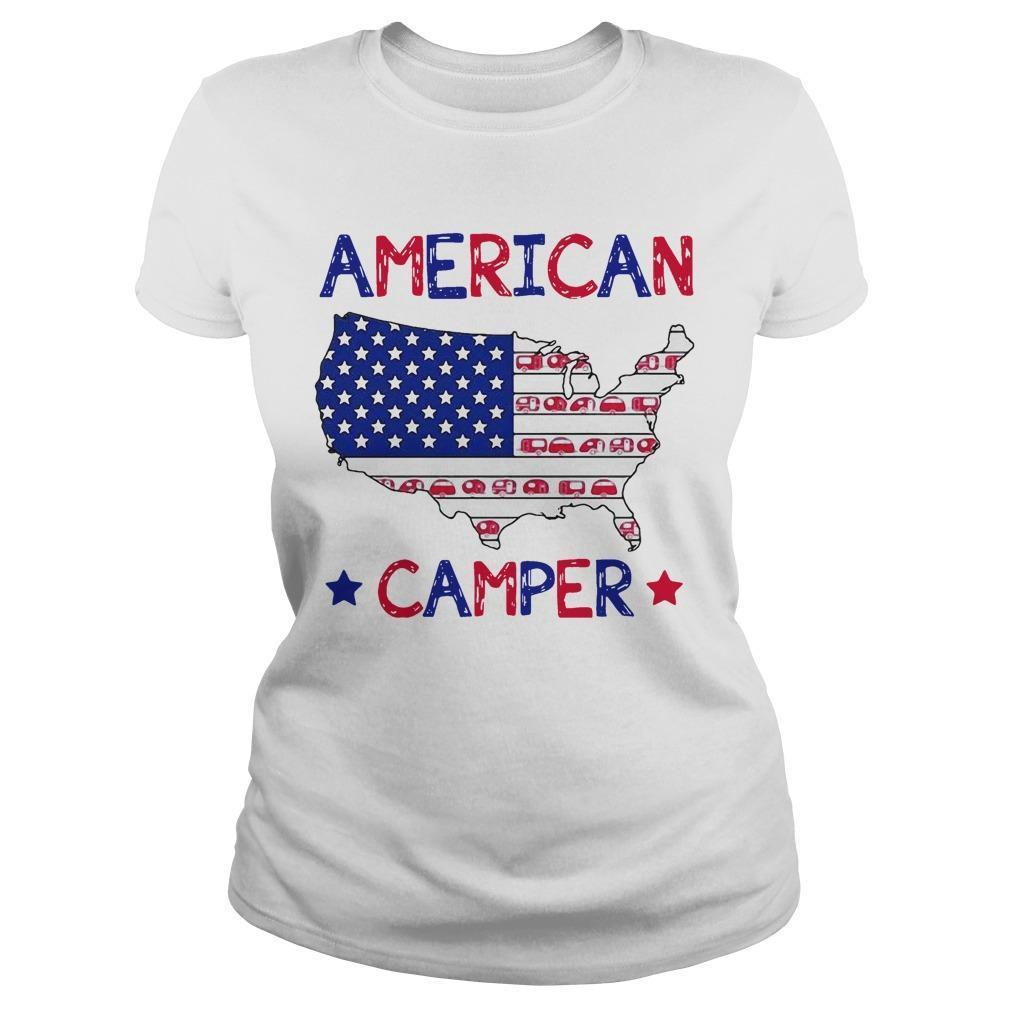 Independence Day 4th Of July American Camper Longsleeve