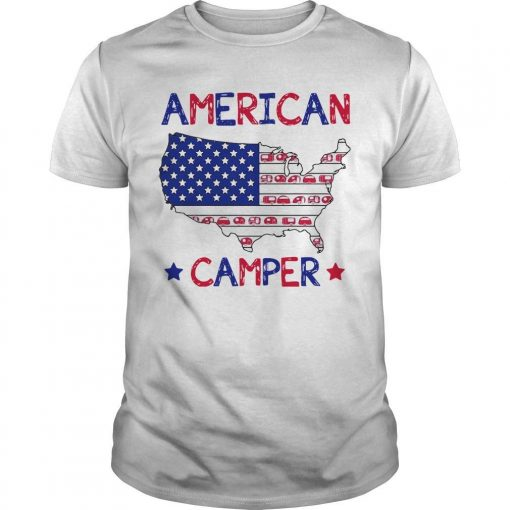 Independence Day 4th Of July American Camper Shirt