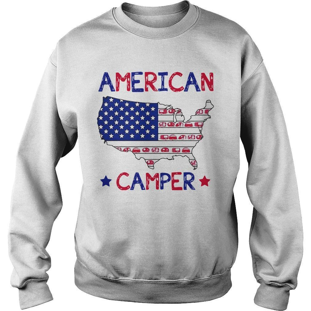Independence Day 4th Of July American Camper Sweater