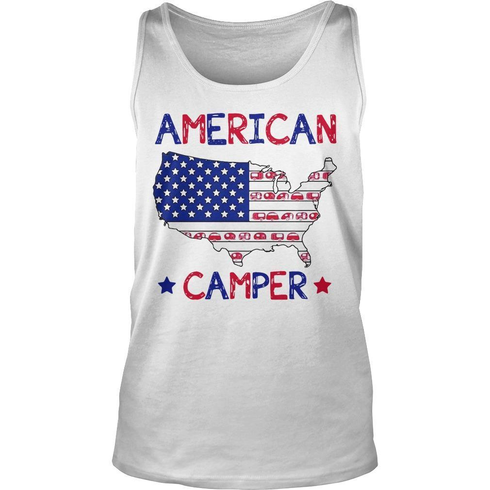 Independence Day 4th Of July American Camper Tank Top