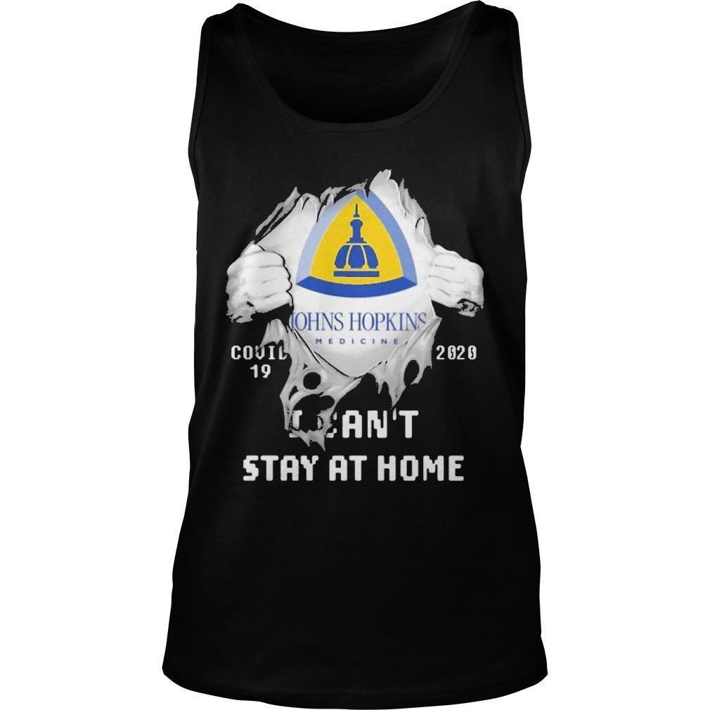 Inside Me Johns Hopkins Medicine Covid 19 2020 I Can't Stay At Home Tank Top