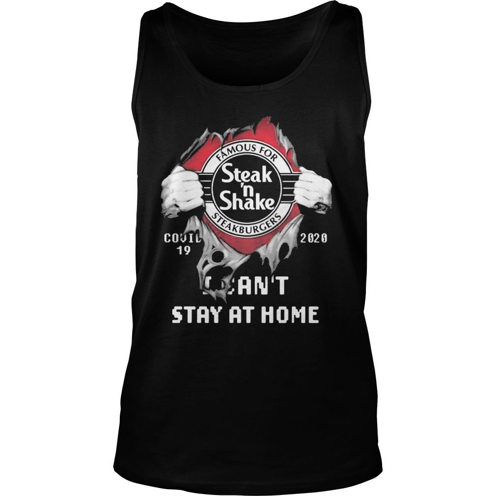 Inside Me Steak 'N Shake Covid 19 2020 I Can't Stay At Home Tank Top