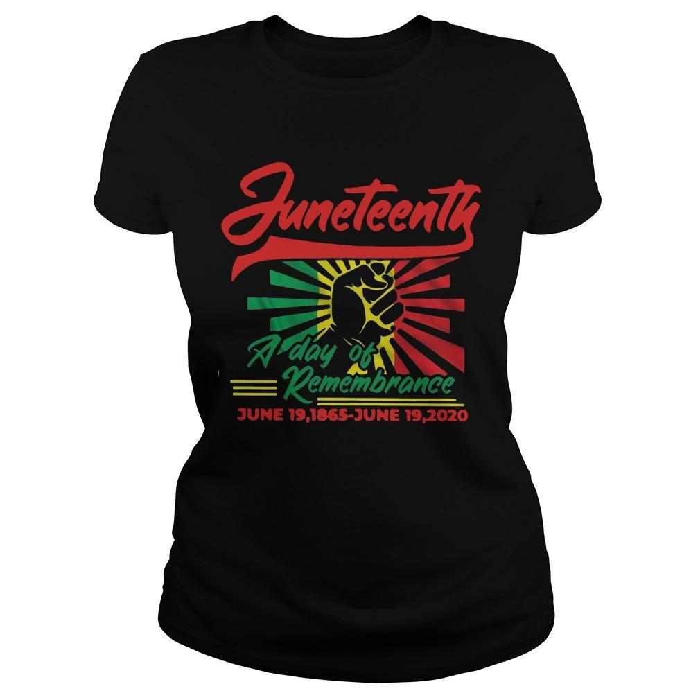 Juneteenth A Day Of Remembrance June 19 1865 June 19 2020 Longsleeve