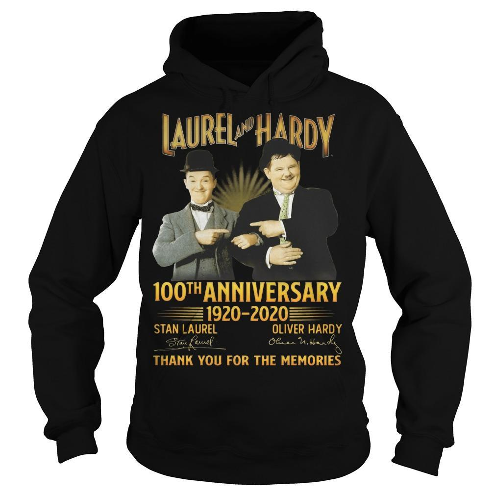 Laurel And Hardy 100th Anniversary 1920 2020 Thank You For The Memories Hoodie