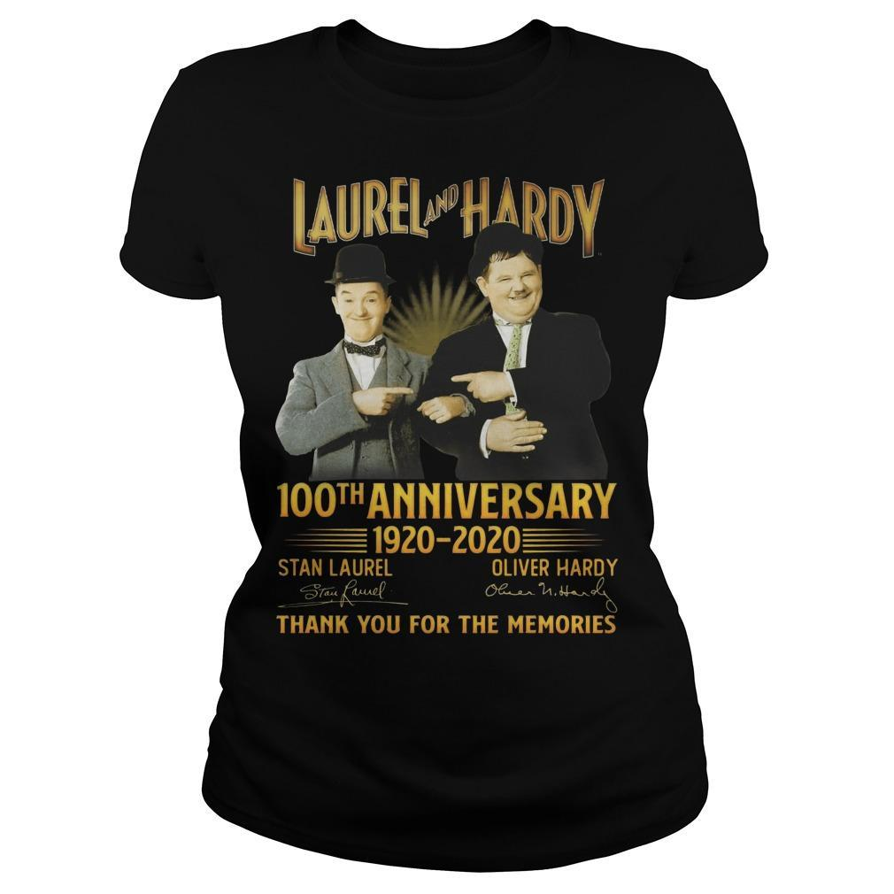 Laurel And Hardy 100th Anniversary 1920 2020 Thank You For The Memories Longsleeve