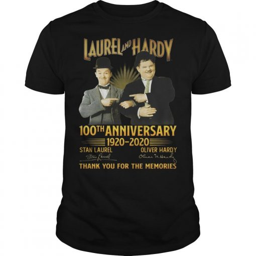 Laurel And Hardy 100th Anniversary 1920 2020 Thank You For The Memories Shirt