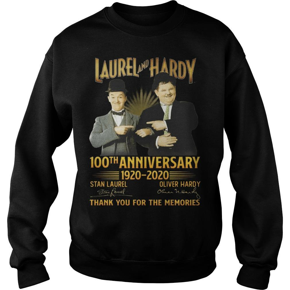 Laurel And Hardy 100th Anniversary 1920 2020 Thank You For The Memories Sweater