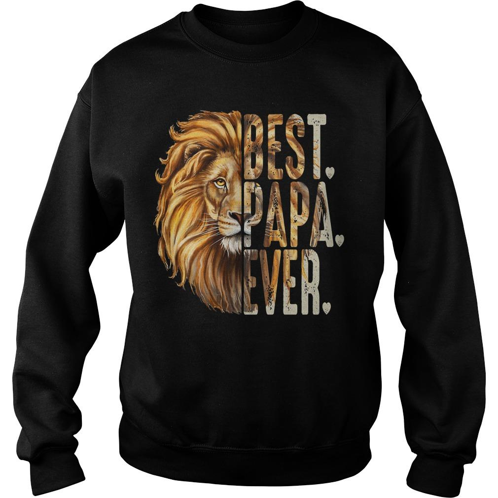 Lion Best Papa Ever Sweater