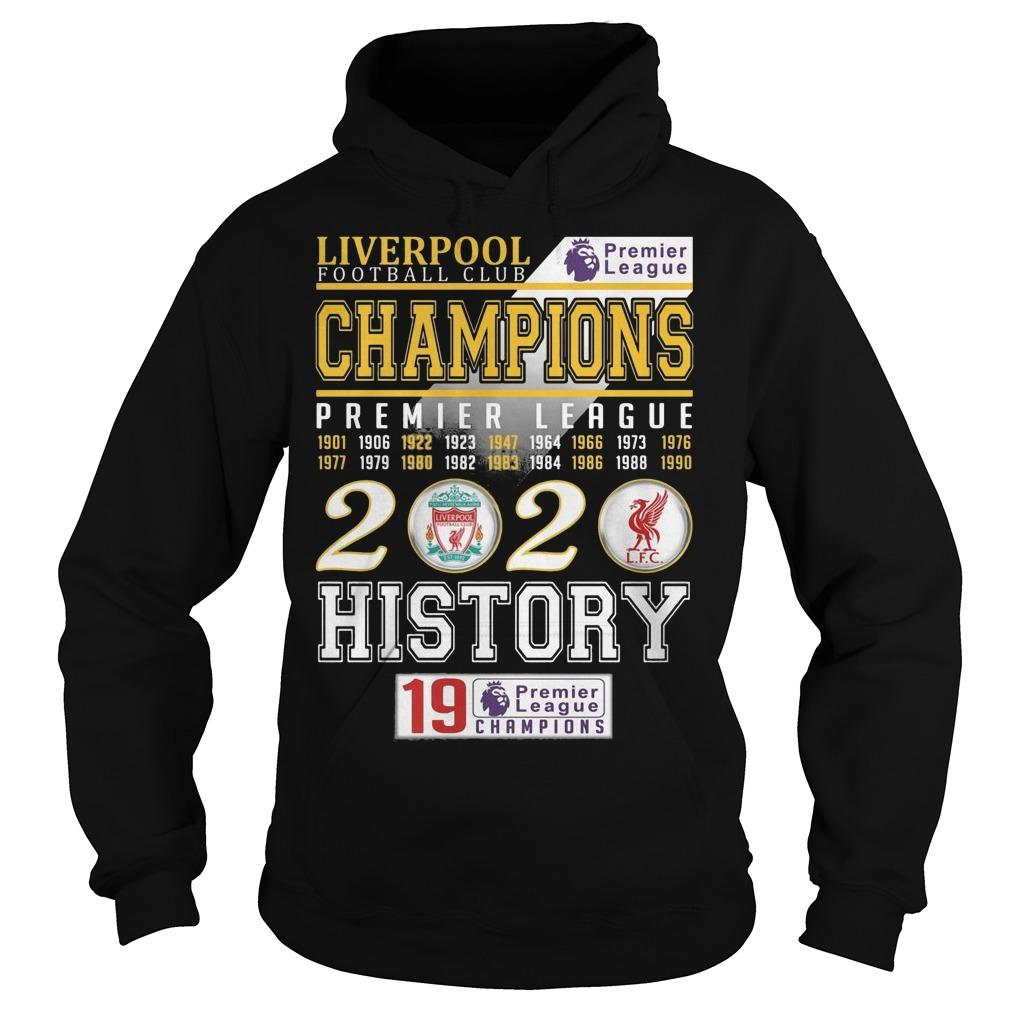 Liverpool Football Club Champions Premier League 2020 History Hoodie