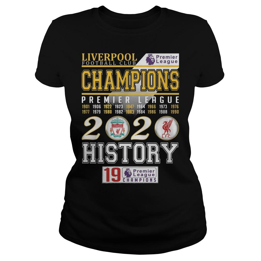 Liverpool Football Club Champions Premier League 2020 History Longsleeve