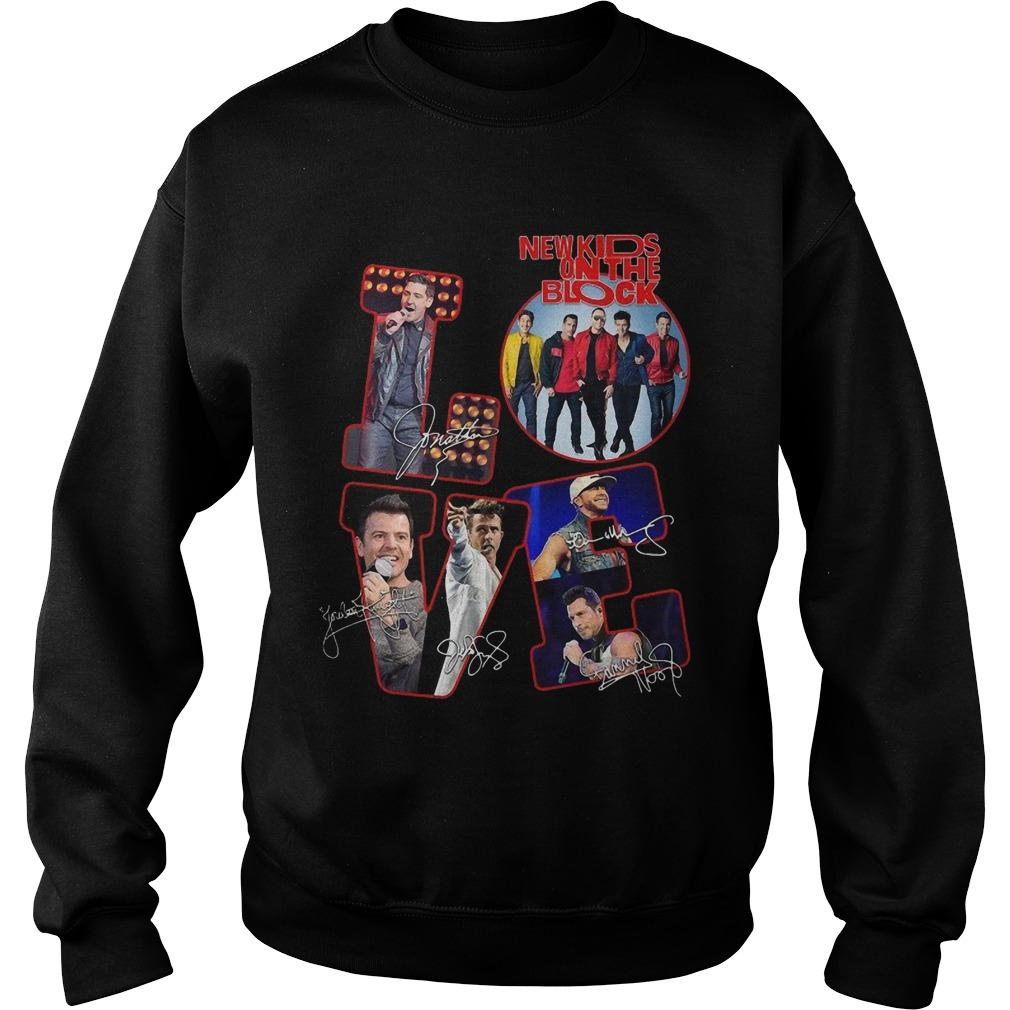 Love New Kids On The Block Signatures Sweater