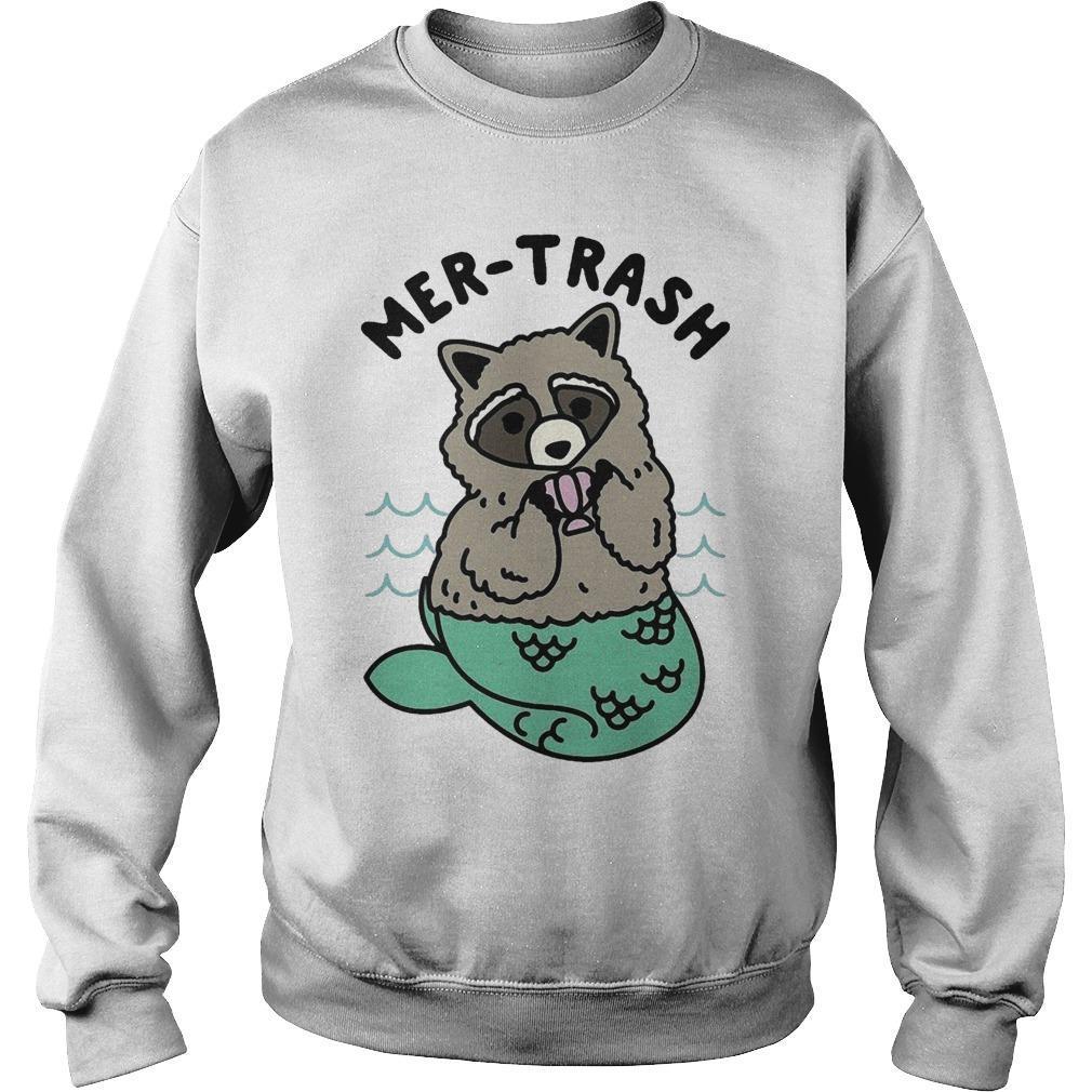 Mermaid Raccoon Mer Trash Sweater