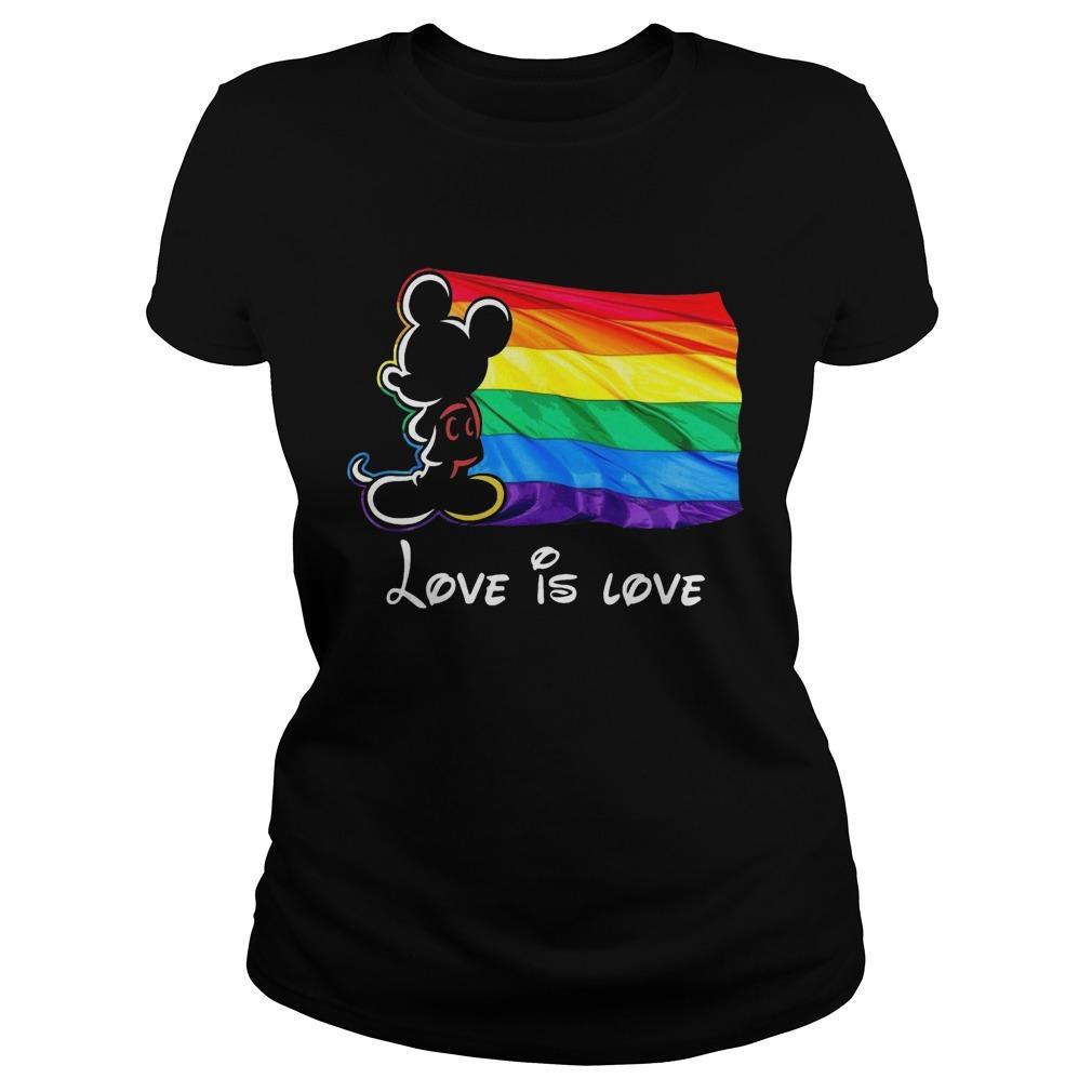 Mickey Mouse Lgbt Flag Love Is Love Longsleeve