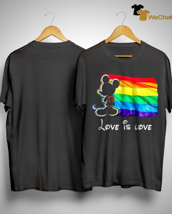 Mickey Mouse Lgbt Flag Love Is Love Shirt