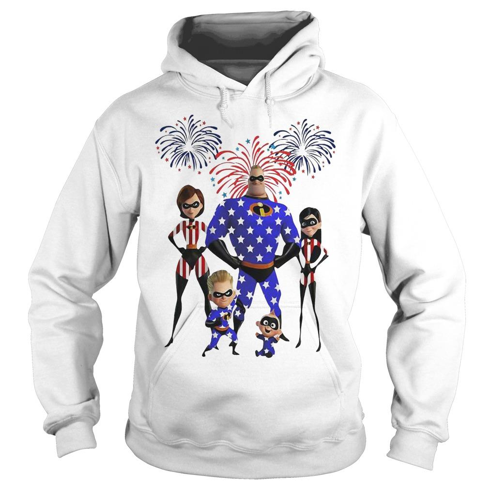 Mr Incredible Firework America 4th Of July Independence Day Hoodie