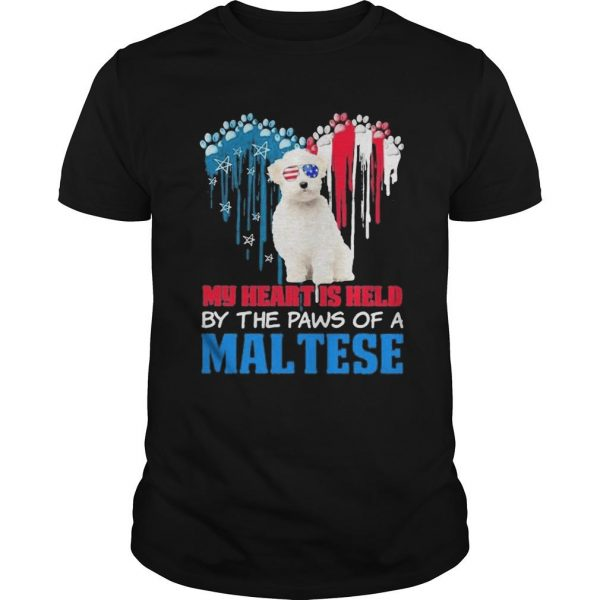 My Heart Is Held By The Paws Of A Maltese Shirt