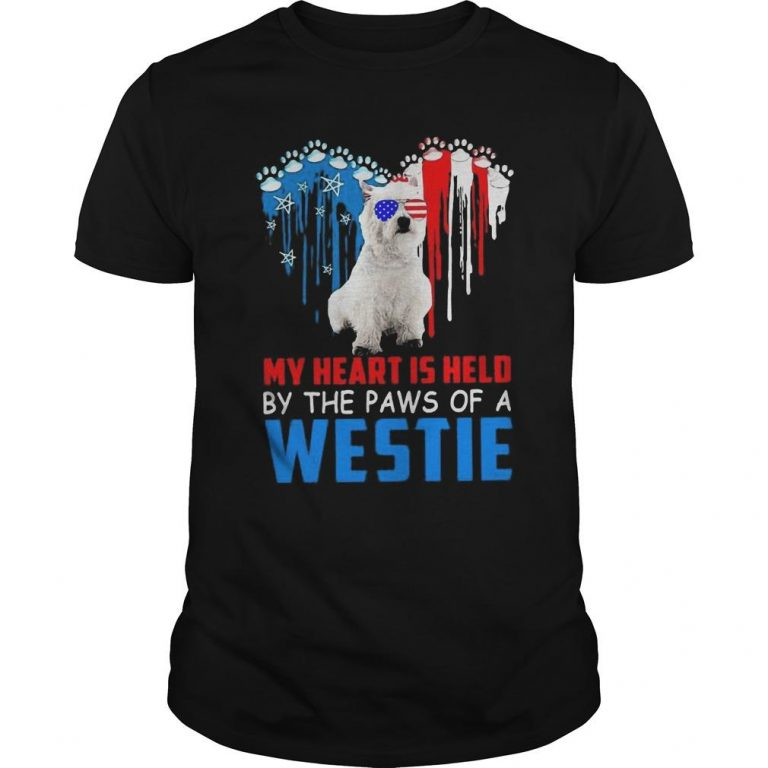 My Heart Is Held By The Paws Of A Westie Shirt