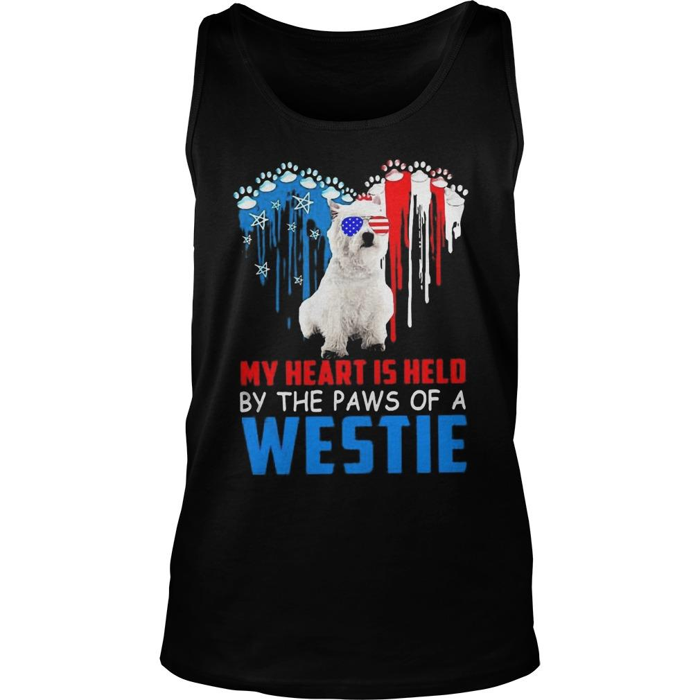 My Heart Is Held By The Paws Of A Westie Tank Top