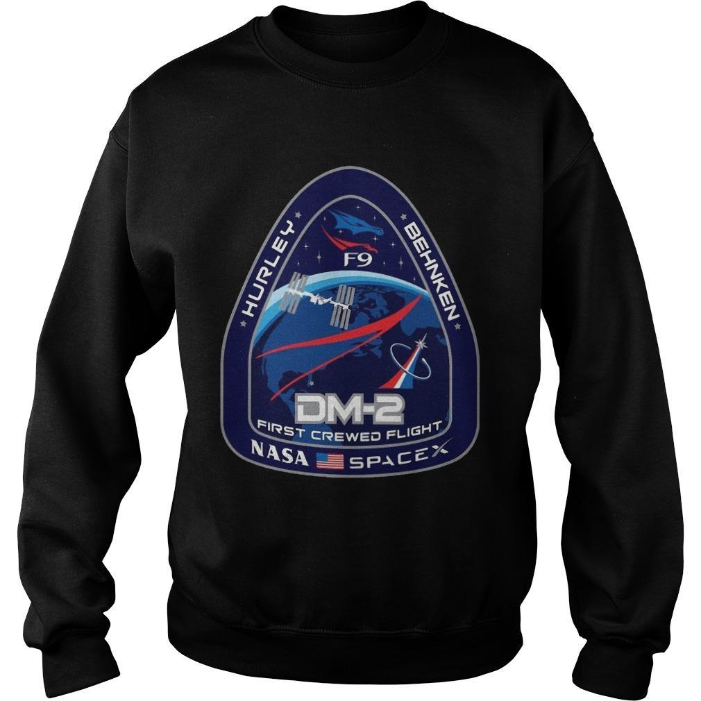 Nasa Spacex Hurley Behnken Dm2 First Crewed Flight Sweater