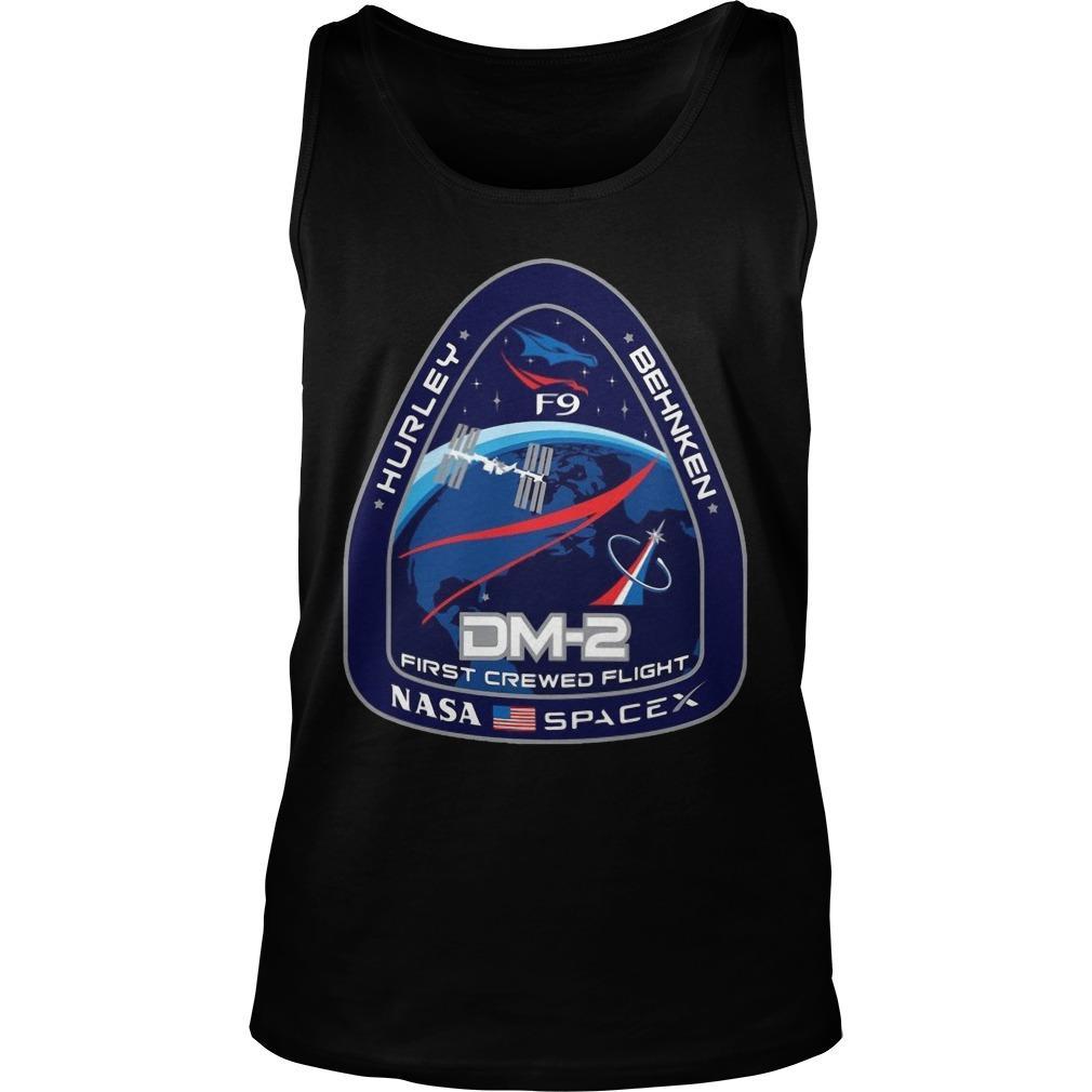Nasa Spacex Hurley Behnken Dm2 First Crewed Flight Tank Top